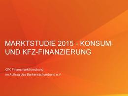 Marktstudie 2015 Konsum-Kfz-Finanzierung BFACH