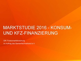 Marktstudie 2016 Konsum-Kfz-Finanzierung BFACH