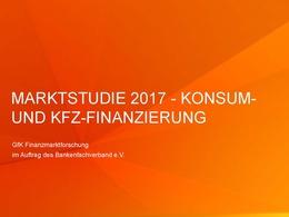 Marktstudie 2017 Konsum-Kfz-Finanzierung BFACH
