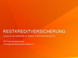 Marktstudie 2017 Restkreditversicherung BFACH