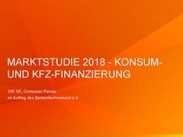 Marktstudie Konsum-Kfz-Finanzierung 2018