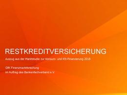 Marktstudie 2018 Restkreditversicherung BFACH