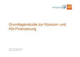 GfK-Studie Konsum-Kfz-Finanzierung 2013